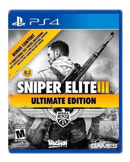 Sniper Elite Iii Ultimate Edition Ps4 Mídia Física Lacrado
