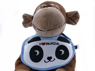 Baberos Impermeables Bordados Tricapa Panda