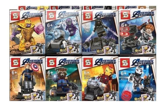 Set 8 En 1 Figuras Tipo Lego Avengers Endgame Mayor Y Detal