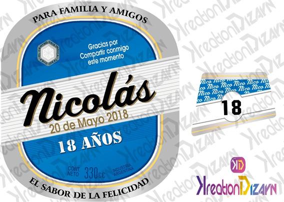 Etiqueta De Quilmes Digital Imprimible Personalizada