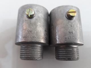 Lote Com 2 Conector Reto De Alumínio 3/4