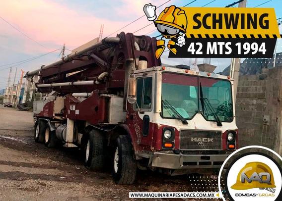 Bomba De Concreto Schwing 42 Mts Mack 1994