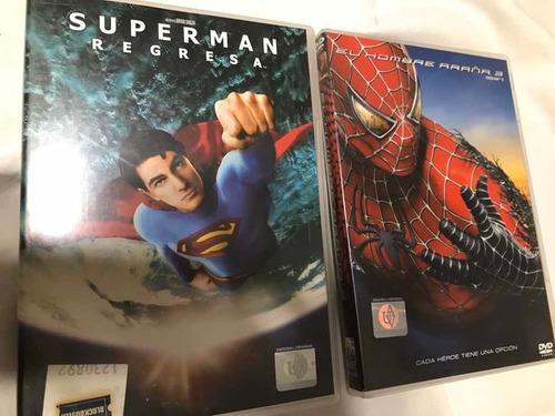 Dvd Originales Hombre Araña 3 - Superman Regresa