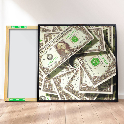 Imagem 1 de 4 de Quadro Canvas Premium 40x40 - Dolares