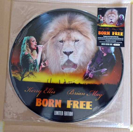 Picture Lp Brian May Born To Free Limitado E Numerado