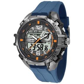 Relógio Masculino X-games Anadigi Xmppa235/bxdx - Prata/azul