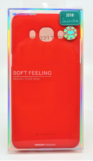Funda Galaxy J5 2016 Mercury Goospery Soft Feeling Rojo