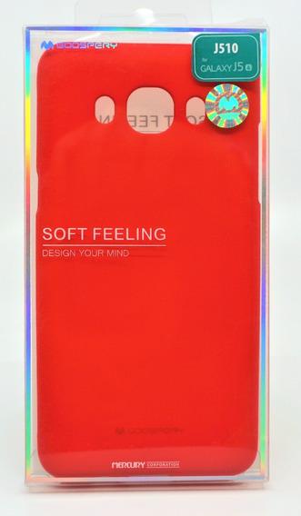 Funda Galaxy J5 2016 Mercury Goospery Soft Feeling Rojo