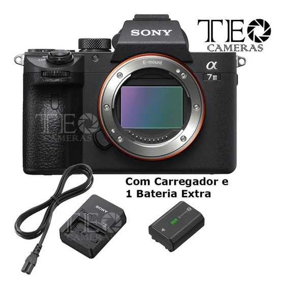 Camera Sony A7 Iii Corpo + Carreg + 1 Bat C/ Recibo