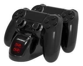 Carregador Duplo Sem Fio 2 Controles Playstation 4 Slim Pro