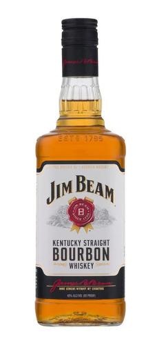 Imagen 1 de 1 de Botella De Whisky Jim Beam 4 Años White Label 750ml