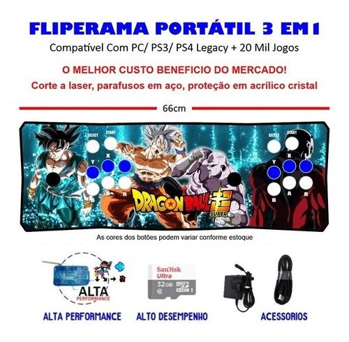 Imagem 1 de 3 de Fliperama Portátil Slim 3 Em 1 - Db Super