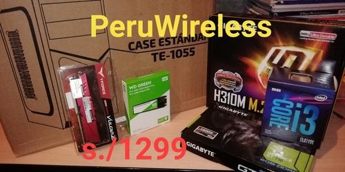 Cpu Core I3 9100f - Ram 8gb - Ssd 240gb - Gt710 2gb -sellado