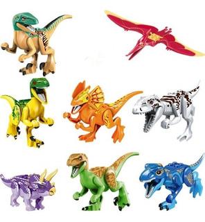 Kit 8 Dinossauros Jurassic Park World Brinquedo - Promoção!