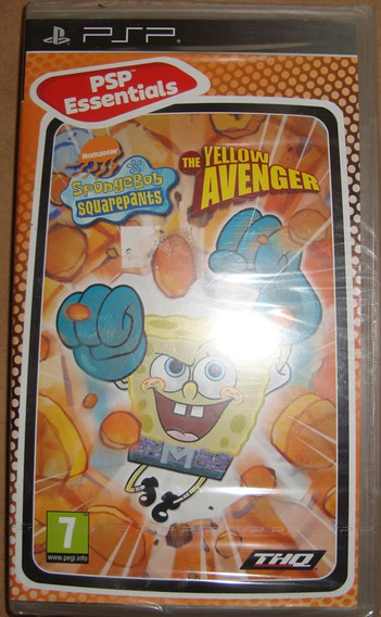 Psp Spongebob The Yellow Avenger - Novo - Lacrado