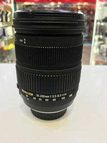 Lente Sigma 18:200 F3.5-6.3 Dc Os Hsm P/ Nikon