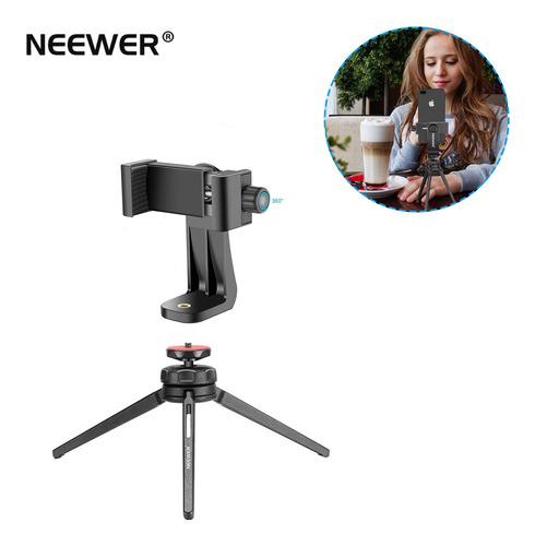 Imagen 1 de 8 de Neewer Mini Trípode Soporte De Mesa Para Smartphone Con Clip