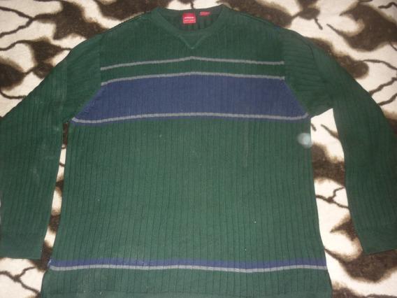 E Sweater Arrow Hilo Talle L Verde Art 68718