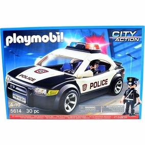 Brinquedo Menino Carro Polícia Playmobil Original 5614