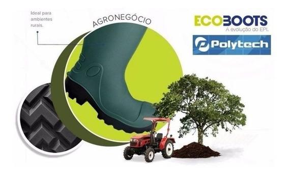 Bota Ecoboots Polytech Em Poliuretano Sem Polaina