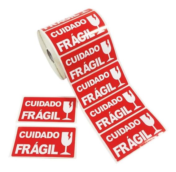 Etiqueta Adesiva Cuidado Frágil 100x50 - 1.000unid