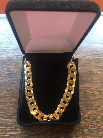 Maravilhosa Pulseira Prata 925 Banhada A Ouro 18k