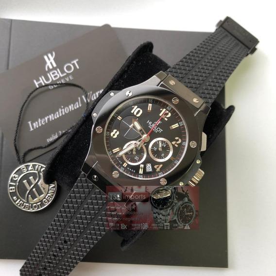 Relógio Hublt Preto Caixa Ceramica