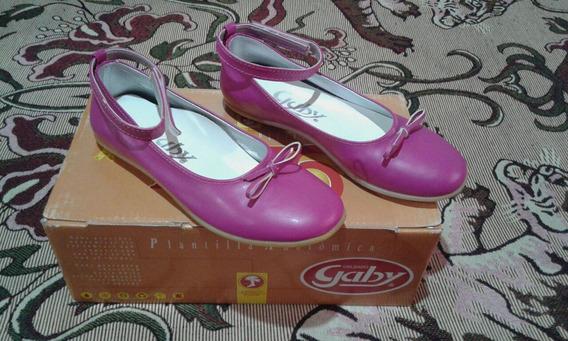 Chatitas /ballerinas/zapatos Talle 33 Fucsia/con Pulserita