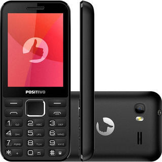 Celular Positivo Dual Chip, Mp3, Rádio Fm, Bluetooth®, Preto