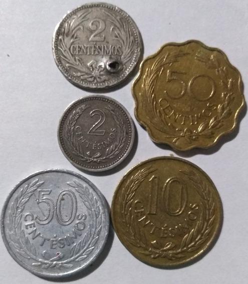 Lote 5 Monedas Uruguay 1901/1953/1960 Y 1965 Cent. De Pesos