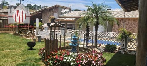 Imagem 1 de 30 de Linda Chácara Com 2 Dormitórios, Piscina, Área Gourmet, À Venda, 500 M² Por R$ 650.000 - Zona Rural - Pinhalzinho/sp - Ch0877