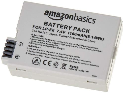 Bateria De Ion De Litio Amazonbasics Camaras Canon Lp-e8