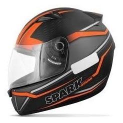 Capacete Moto Masculino Ebf Spark Ilusion Esportivo