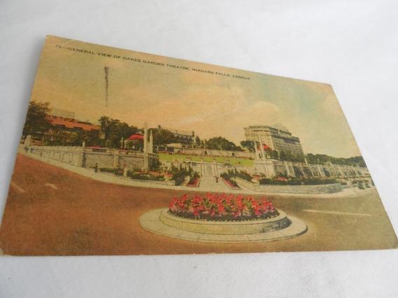 Postal View Of Oakes Garden Theatre Niagara Falls Canada