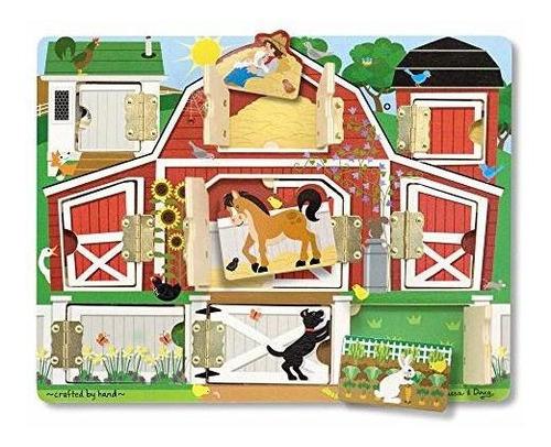 Melissa Y Doug Hide Y Seek Farm (juguetes De Desarrollo, Tab