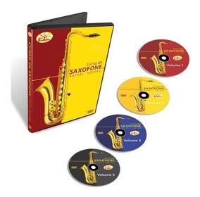 Coleção Curso De Saxofone Em 4 Dvds - Edon- Original