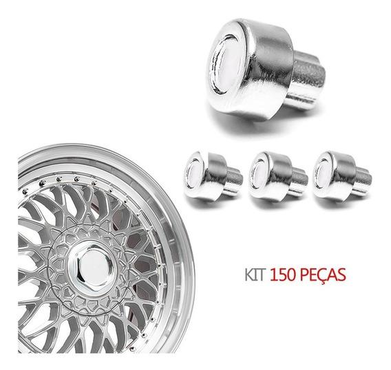 Kit 150 Rebite N 5 Pino Importado Roda Cromado - Bbs Zunky