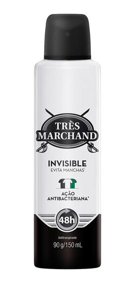 Desodorante Aerossol Antitranspirante Très Marchand Masculin