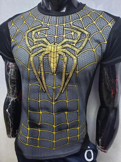 Playera Spider Man Golden Avengers End Game / Adulto