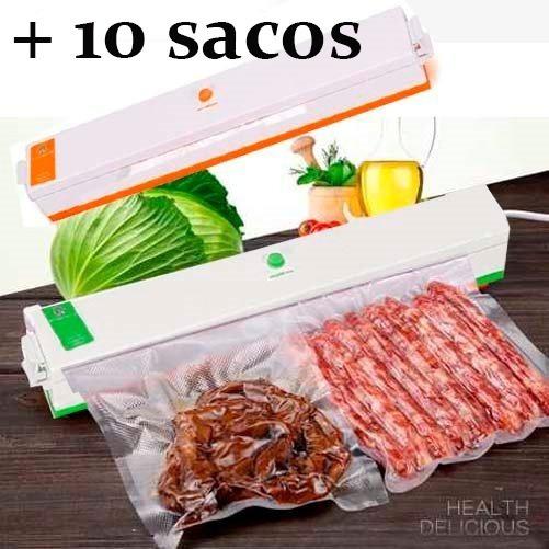 Seladora A Vacuo Termica Alimento 110 Embaladora + Plasticos