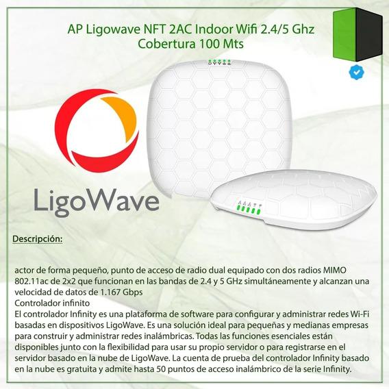 Ap Ligowave Nft 2ac Indoor Wifi 2.4/5 Ghz Cobertura 100 Mts