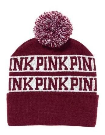 Gorro Sombrero Gorra Lana Bobble Pink By Victoria Secret