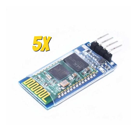 5x Módulo Bluetooth Hc-06 Rs232 Hc06 Arduino Raspberry Pi