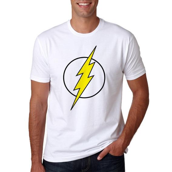 Camisa De Super Herói Flash Masculina Manga Curta