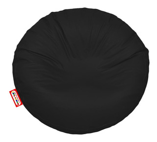 Sillon Puff Circular Grande Negro Soporta Hasta 115 Kg