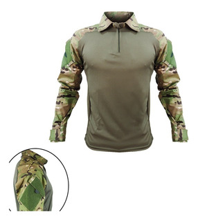 Camisa Tática Rip Stop Masculina Airsoft Paintball Multicam