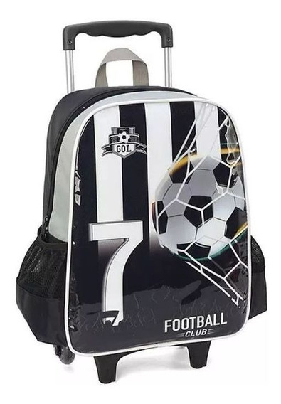 Mochilete Infantil Football Club Black Ic33992 (640756)