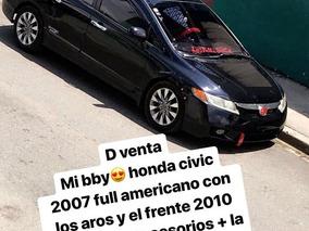 Honda Civic Ex Negro Frente 2010 Aros Originales Y Musica