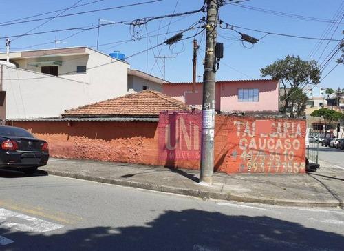 Terreno À Venda, 200 M² Por R$ 400.000 - Parque Novo Oratório - Santo André/sp - Te0196