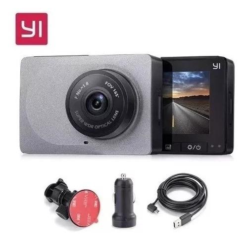 Câmera Filmadora Veicular Automotiva Yi Smart Dash Com Visao Noturna Hd 1080p Até 60 Fps Wi-fi Com Suporte